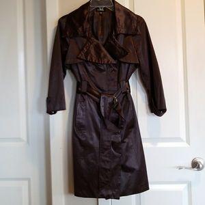 Bebe satin trench coat